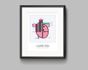 I Love You!  from the inferior wall of my left ventricle. Printable wall art