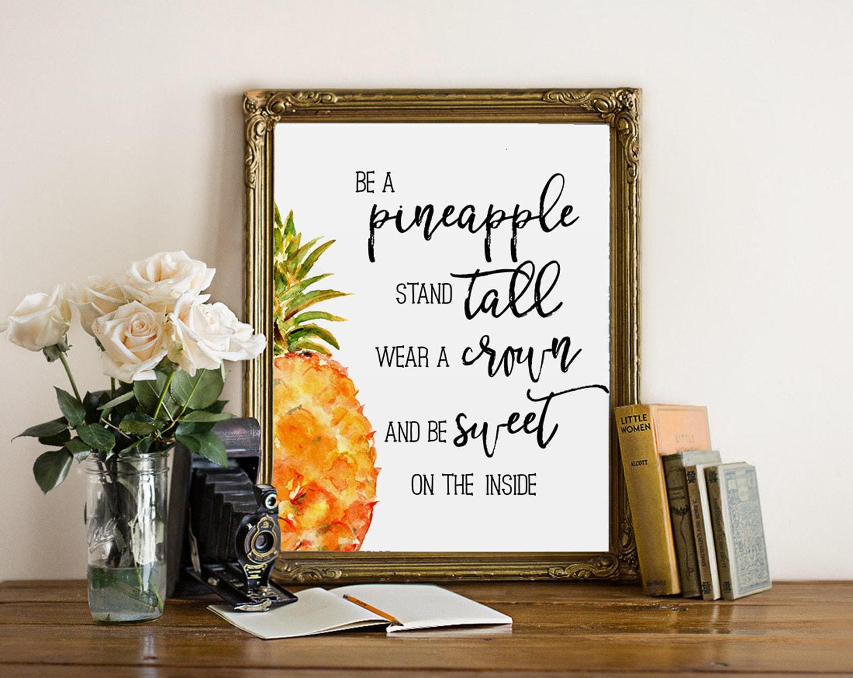 Stehen Sie eine Ananas zu sein hoch Ananas print Küche