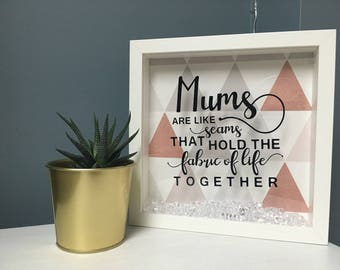 Custom mother's day frame | mother's | fabric of life