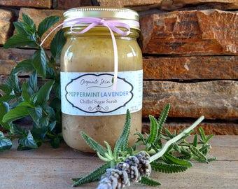 Peppermint Lavender Sugar Body Scrub