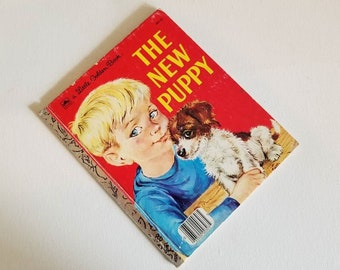 Little Golden Book, Vintage Edition, 1969, The New Puppy, by Kathleen N. Daly, Pictures by Lilian Obligado