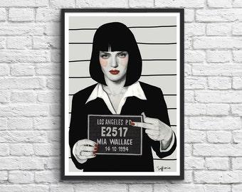 Art-Poster 50 x 70 cm - Mia Pulp fiction