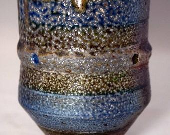 Ceramic Hand Thrown Wood Fire 8 oz. Tumbler