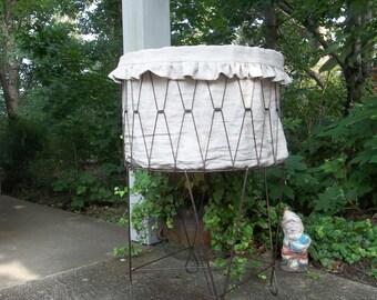 Custom Laundry Basket Liner Linen Basket Liner Ruffled Basket Liner Ruffled Linen Basket Liner Laundry Hamper Liner