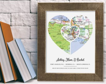 Moving Away Gift Family Sister Best Friend Going Away Graduation Personalized Custom Unique Modern Home Decor Art