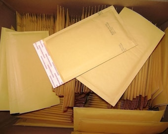250 Qty 6in x 10in Kraft Bubble Mailer Size 0 Yellow Padded Bubble Mailing Envelopes. Ships to 48 USA states only