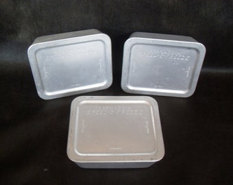 3 Vintage Aluminum Speed-E-Freeze Containers and Lids
