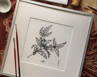 Custom Original ink artwork! One skull, flora, or fauna of your choice :)