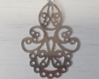 Filigree silver chandelier print