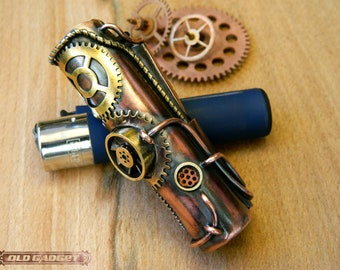 steampunk Lighter Cover Clipper Lighter case  Clipper Lighter Case Holder Sleeve Cover