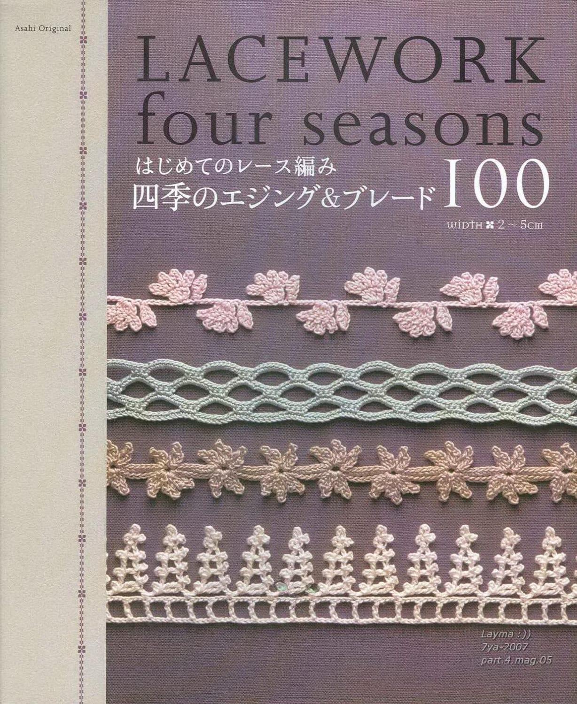 100 Crochet Edging Patterns - Crochet Border Patterns - Crochet Lace ...