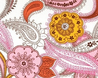 INDIGO PAISLEY PINK, Alexander Henry, 100% Cotton Quilting Fabric Apparel, Fabric by the Yard