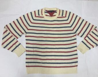 Vintage TOMMY HILFIGER striped Sweatshirt Polo sport Polo Bear Supreme Nautica hip hop gangsta rap karl kani