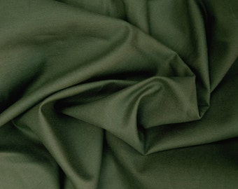 Cotton Twill Spandex Fabric 4 Way Stretch by the Yard OLIVE
