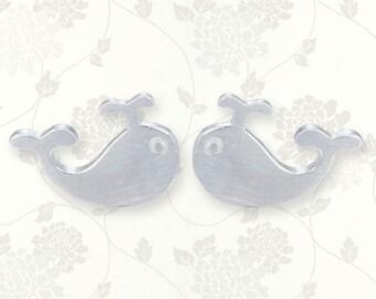 Sterling Silver whale earrings | whale jewelry | silver earrings | whale tail earrings | whale stud earrings | silver whale tail