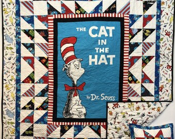 In Stock: Dr. Seuss Lap Quilt with Free Pillowcase 18011