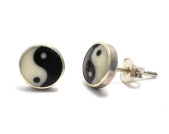 Yin-Yang earrings 925 sterling silver