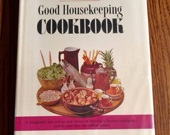 The New Good Housekeeping Cookbook, 3,500 Recipes 1963 Vintage Americana Homemaking Cookbook