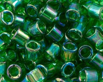 Transparent Green AB Miyuki Delica Seed Bead 8/0 6.8G Tube DBL-0152-TB