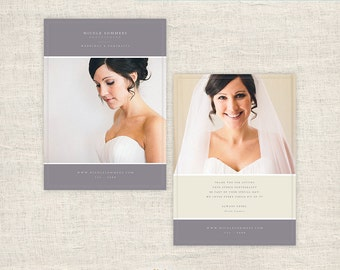 Photography Thank You Card Template - Photographer Thank You Card Template - Wedding Photo Card Templates - INSTANT DOWNLOAD