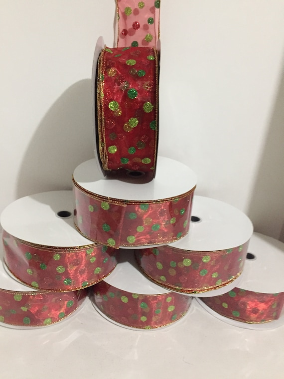 15mm Organza Ribbon Neon Green 10m Roll