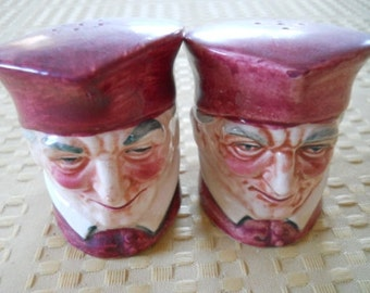 Toby Captain Salt and Pepper Shakers - Vintage, Collectible