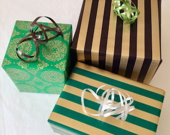 Anniversary Wrapping, *3 sheets + *Free Card/Ribbon, 25th Anniversary, Vintage Gift Wrap, Wrapping Paper, Gift Wrapping, Wedding Gift Wrap