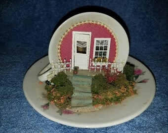 Vintage Teacup and Saucer Craft Project - Teacup House