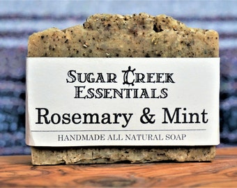 Handmade Natural Organic Soap, Rosemary & Mint Soap Bar