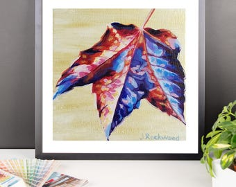 Released Leaf Autumn Fall Nature Art Painting Framed poster Rockwood Arts