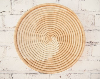 African Basket- Sokoke // Rwanda Basket // Woven Basket // Sisal & Sweetgrass // Tans, White