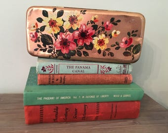 Vintage Tin, Burton's Gold Medal Biscuit Tin, Retro Floral Design