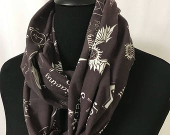 Supernatural Sayings infinity scarf