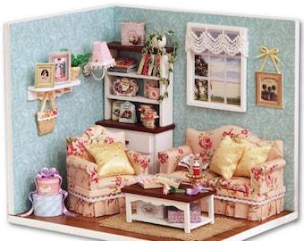 DIY kit window living room miniature DIY