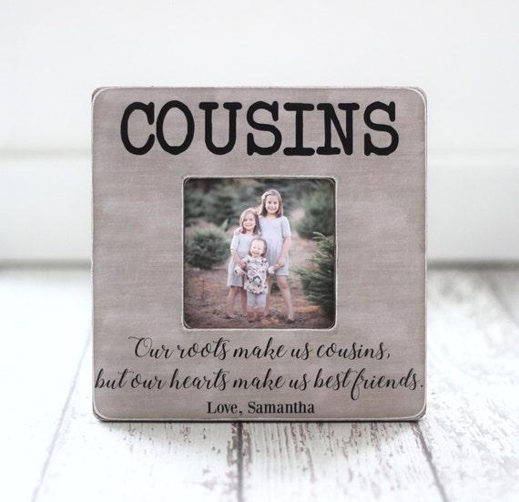 Prima Navidad regalo cuadro marco primos mejor amigos familia