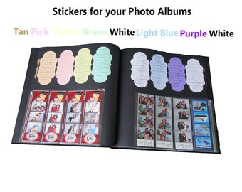 Photo Album Signature Stickers 2.375 in x 4.75 in / Sandy Tan