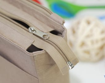 Add a Zipper closure to my bag organizer