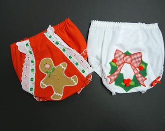 That Double Seat .  60s 70s embellished Christmas panty  .  toddler size 2  .  made in USA