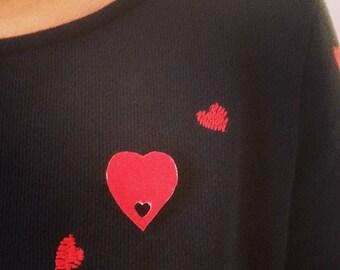 Red Velvet Heart brooch