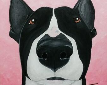Bull Terrier Original Painting - Not a Flanderers - Not a Print