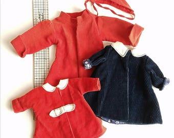 Vintage Doll Coats Clothes Lot