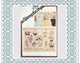 Simplicity 9891 (1980) Embroidery transfer - Vintage Uncut Sewing Pattern