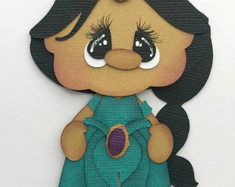 Aladdin princess Jasmine cartoon premade paper piecing 3d die cut by my tear bears kira