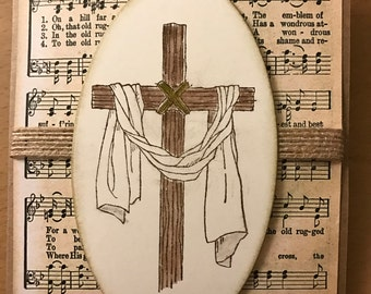 Old Rugged Cross Happy Easter Card
