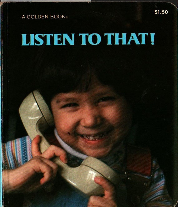 Listen to That a Golden Book Board Book + 1980 + Vintage Kids Book
