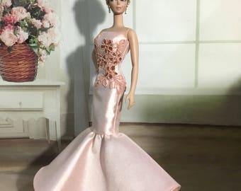 Handmade Silkstone Barbie Evening Gown Dress