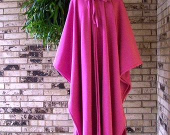 PICK YOUR COLOR  Irish Fleece Hot Pink Cape Plus Size