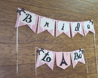 Bridal Shower Banner, Paris Theme Banner, Bride to Be Banner, Bachelorette Banner, Pink Black Banner, Paris Inspired Bridal Shower, Paris