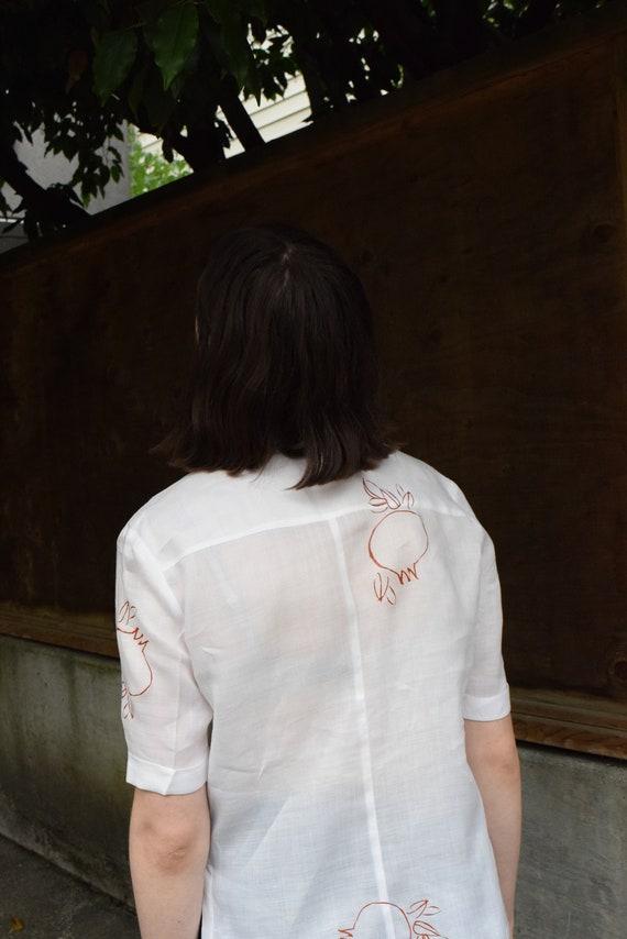 Rodie White Linen Short Sleeve.
