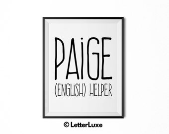 Paige Printable Kids Gift - Name Meaning Art - Baby Shower Gift - Nursery Art - Digital Print - Nursery Decor - Typography Wall Decor